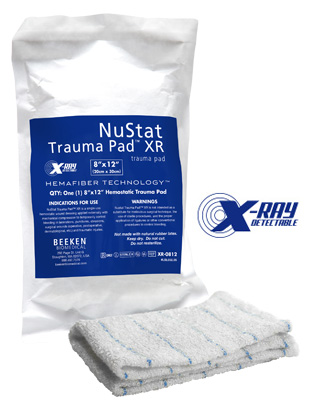 NuStat Trauma Pad 8 x 12- Hemostatic Wound Dressing- Stop bleeding in large wounds in under 3 minutes